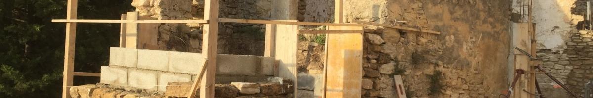 Rénovation complète d'un mas 02- Viguier maçonnerie à Apt, Bonnieux, Gargas, Gordes, Goult, Lacoste, Lourmarin, Maubec, Menerbes, Oppede, Roussillon, Rustrel, Saignon, St Saturnin, Villars en Luberon