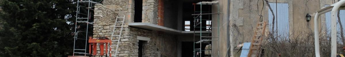 Rénovation complète d'un mas 06- Viguier maçonnerie à Apt, Bonnieux, Gargas, Gordes, Goult, Lacoste, Lourmarin, Maubec, Menerbes, Oppede, Roussillon, Rustrel, Saignon, St Saturnin, Villars en Luberon